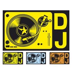 DJ music turntable vector image vector image