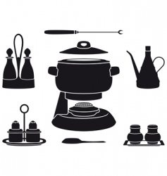 fondue pot vector image