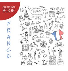 france icons collection sketch for your design vector image vector image
