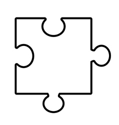 isolated puzzle piece graphic vector image