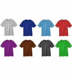 set of t-shirt designs vector image vector image