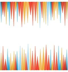 abstract sharp zig-zag border style background vector image