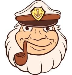 Color Captain Portrait vector image