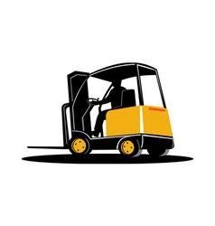 forklift truck vector image vector image