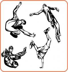 jump vector image