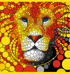 Lion abstract wild cat animal vector