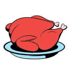 roast turkey icon cartoon vector image