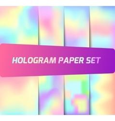 Set of hologram backgrounds vector image vector image