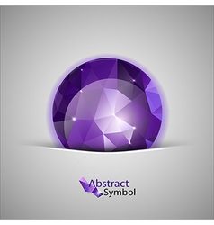 triangles ball purple vector image vector image