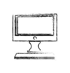 computer conitor icon pc desktop display symbol vector image