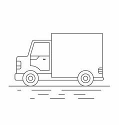 delivery van line icon vector image vector image