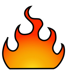 fire with a frame vector image vector image