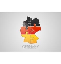 Germany logo Puzzle Germany logo design Creative vector image