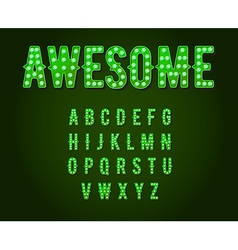Green Neon Casino or Broadway Signs style light vector image vector image
