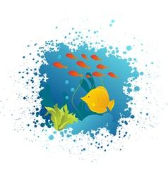 underwater grunge vector image vector image