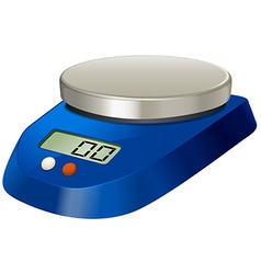 Lab measuring scale with metal plate vector image
