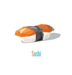Polygonal of sushi japanese cuisine modern food vector
