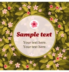 Spring flower card with frame for text vector image