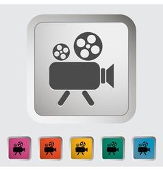 Videocam vector image