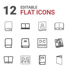 12 read icons vector image