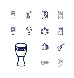 13 acoustic icons vector