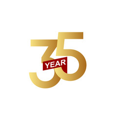 35 years anniversary template design vector image