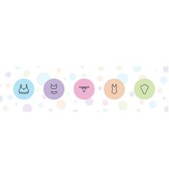 5 sexy icons vector