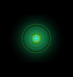 abstract future circle technology green concept vector image
