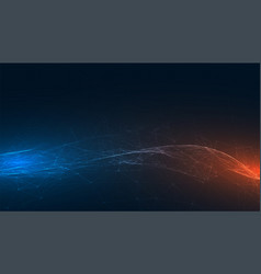Abstract technology banner with blue and orange vector