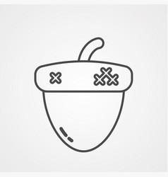 acorn icon sign symbol vector image