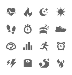 Activity Tracking Icons vector image