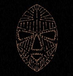 African mask grungeVS vector