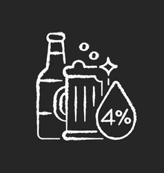 alcohol chalk white icon on black background vector image
