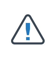 Alert warning icon vector