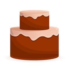 anniversary cake icon cartoon style vector image