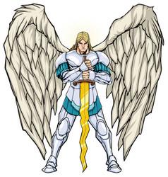 Archangel michael standing vector