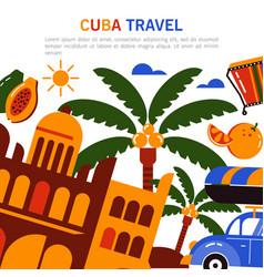 Banner cuba tourism vector
