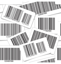 Barcodes monochrome seamless background vector