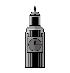 Big ben isolated icon vector