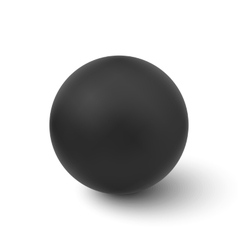 Black ball isolated on white background vector