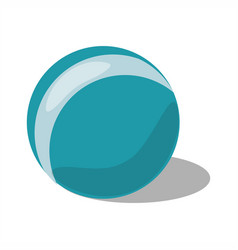 blue ball toy with strip vector image