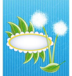 Blue layout with dandelions vector