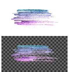 Blue pink paint brush smear stroke vector