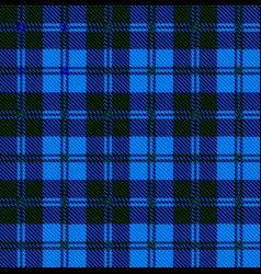 Blue tartan wool material vector