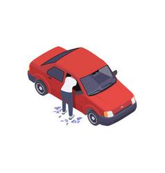 Car window robbery composition vector