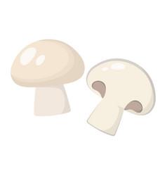 cartoon mushroom champignon isolated on white vector image