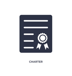 Charter icon on white background simple element vector