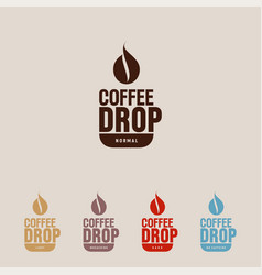 coffee drop and cup cafe flat icon vector image