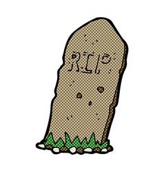 Comic cartoon spooky grave vector