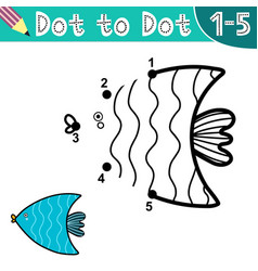 connect digits and draw a cute fish vector image